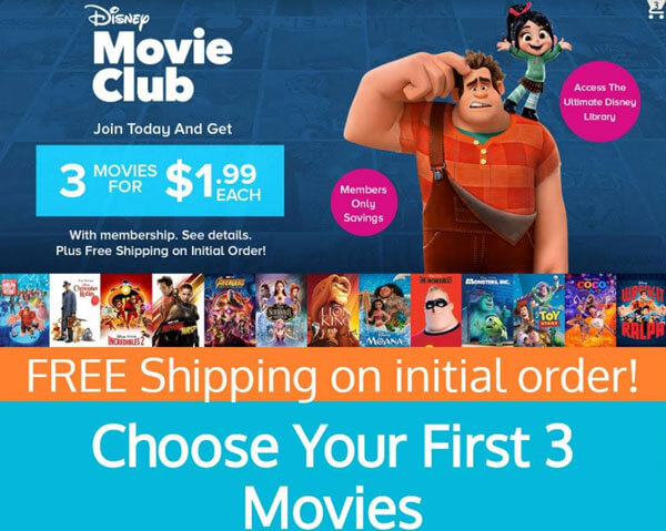 Get 4 Disney movies for $1