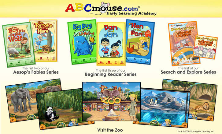 Plenty of books to enjoy in ABCmouse