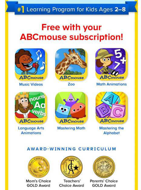 Free Educational Apps for Every ABCmouse Subscription