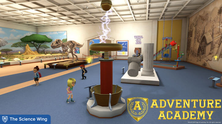 Explore the Science Wing in Adventure Academy!
