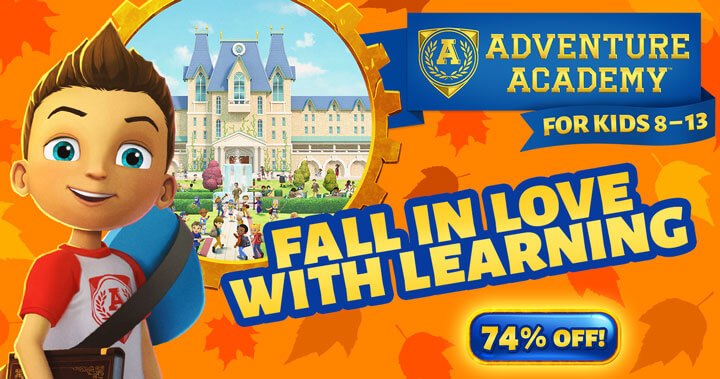 Adventure Academy Celebrates Fall with a Fall in Prices!