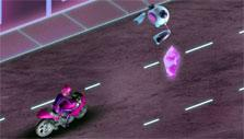 Motorcycle race in Barbie's Spy Academy