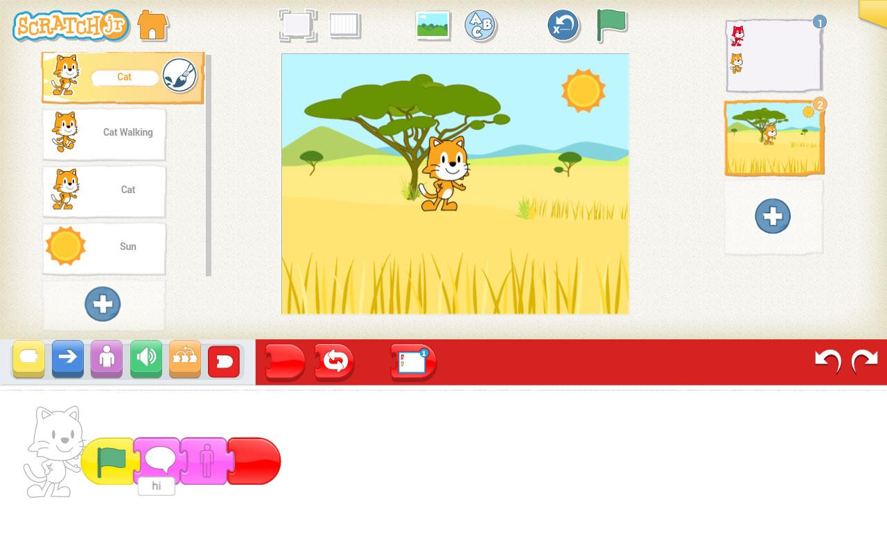 how to make a game on scratch jr