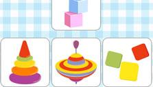 Matching similar objects in Preschool Adventures
