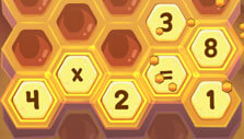 Bee multiplication game in Adventure Academy
