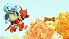 Finding treats for Norbert in Wallykazam Magic Word Hunt