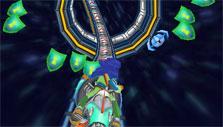 Collecting shields in Math Blaster: Hyperblast 2