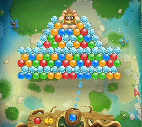 Pyramid Level in Bubble Boo
