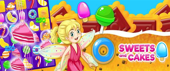 Sweets and Cakes: Match-3 - Play this exciting match-3 game that'll take you on an adventure across a massive kingdom.