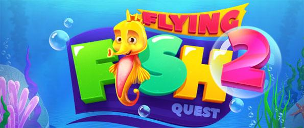 Flying Fish Quest 2 - Enjoy amazing underwater Match 3 gameplay.