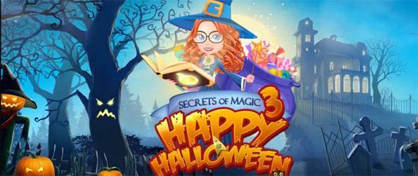 Secrets of Magic 3: Happy Halloween - Match three or more similar Halloween decorations in Secrets of Magic 3: Happy Halloween.