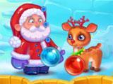 Christmas Eve Story Santa and Reindeer