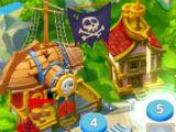 Complete Levels Pirates and Pearls Match 3 Puzzle