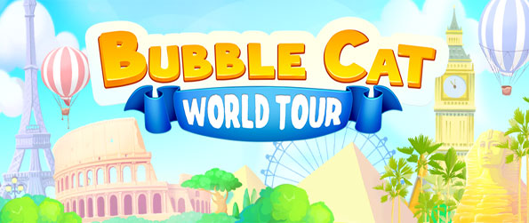 Bubble Cat World Tour - Embark on an epic journey with Bubble the Cat in this exciting bubble popper game.