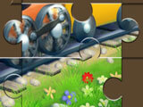 Packed Train: Complete jigsaw puzzle
