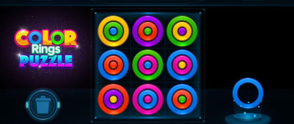 Color Rings Puzzle - Experience a unique puzzle game that will have you match and stack colored rings!