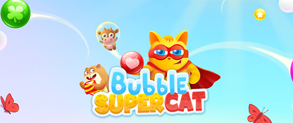 Bubble Super Cat - Super Cat and his friends need your help! Clean all the stages in this new and addictive bubble shooter game!