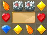Rocks level in Jewel Pirates