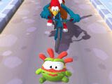 Knocked Down by Cyclist in Om Nom: Run