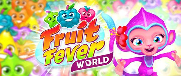 Fruit Fever World - Enjoy a cute match 3 game as you adventure with your monkey friend.