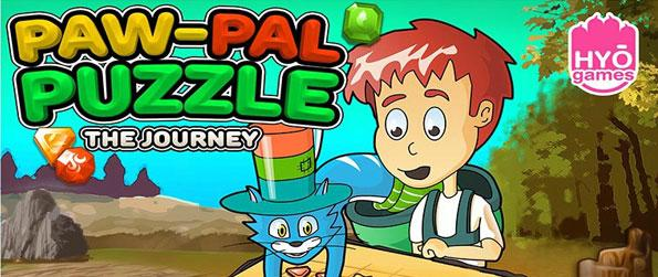 Paw-Pal Puzzle - Paw-Pal-Puzzle combines classic match-3 gameplay with new and unique items and features. Join the two pals on their journey as they set abound on a great adventure!