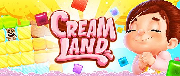 Cream Land - Enjoy a wonderful cakes and sweets themed brick-buster, match-3 game in Facebook.