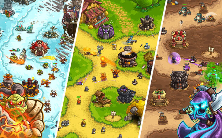 Kingdom Rush Vengeance - different map types