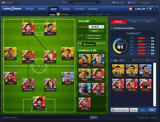 Build your Perfect Team in United Eleven