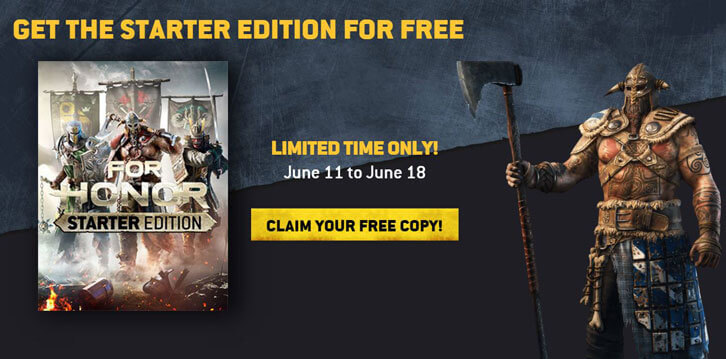 For Honor (Starter Edition) is Free for a Limited Time on UPlay