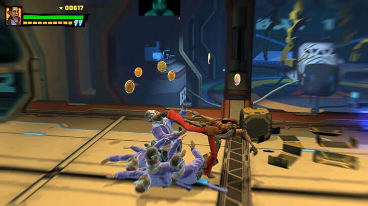 Play as ex-POTUS Dirty Barry in the secret bonus game in Shaq Fu: A Legend Reborn