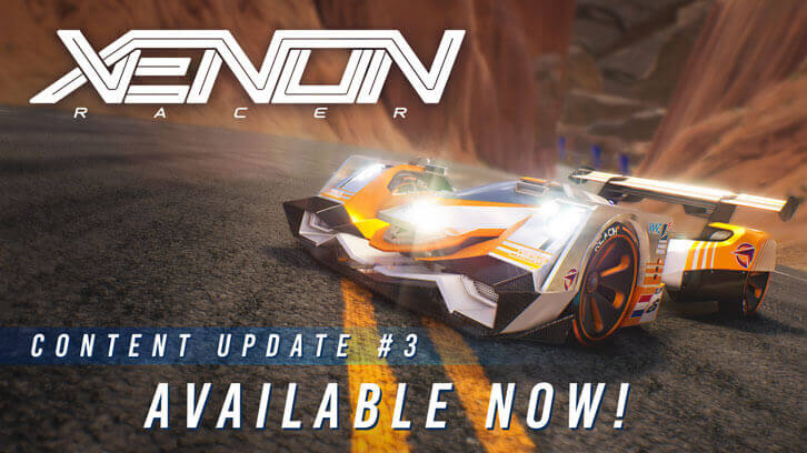 "Xenon Racer players can now drift through ""Silver State"" Nevada in a Brand New Car"