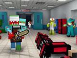 Pixel Gun 3D indoor battle