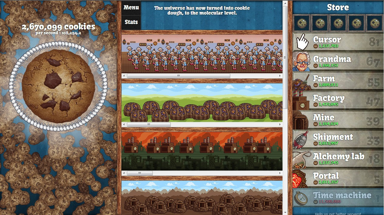 cookie clicker matchs difficiles