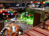 Fighting a wave of enemies in Hero Hunters