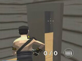 Entering a building in Rocket Royale