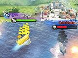 Fighting an enemy character in Ocean Legend