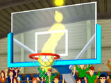 A shot from the side in 3D Basketball