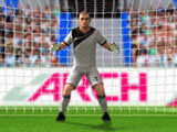 Kick the ball into the net in 3D Penalty Kick
