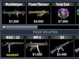 Speedboat Shooting weapon upgrades