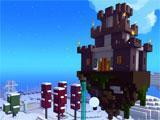 Impressive castle in the sky in Trove