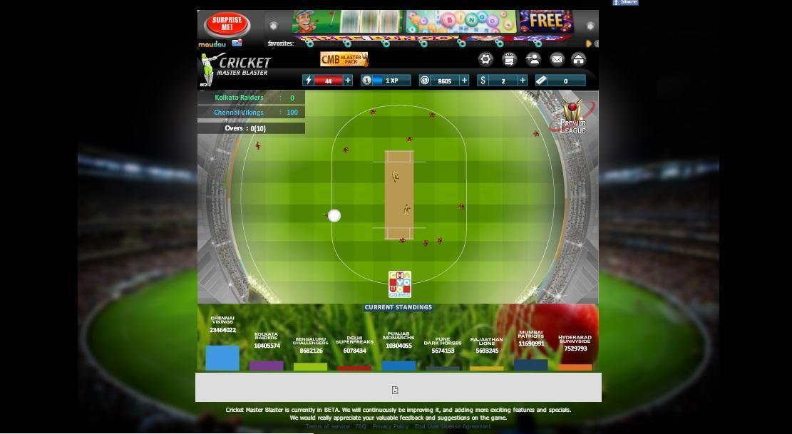 Cricket Master Blaster Game - Play online at