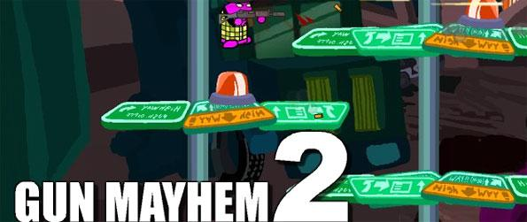 Gun Mayhem 2 - Play as a cute gung-ho character, collect weapons, items and power-ups and defeat your opponents i this exciting 2D side-scrolling game, Gun Mayhem 2!