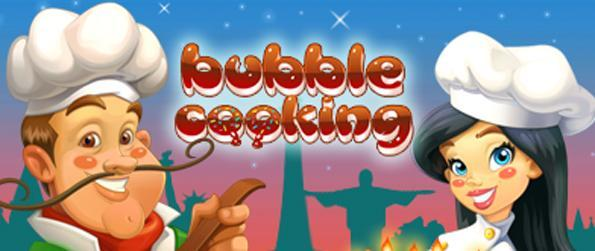 Bubble Cooking - Travel the world cooking as you shoot bubbles in this free Facebook Game.