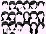 Choose hair style in Dress Up Time