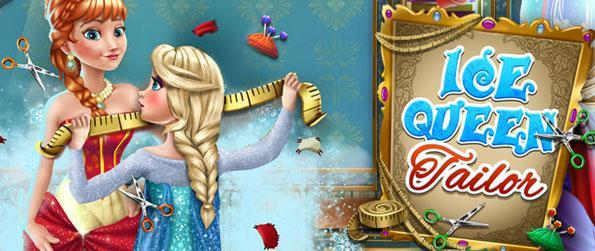 Ice Queen Tailor For Sister - Elsa has to make a beautiful gown for Anna`s birthday, but her studio is a complete mess. Help our lovely queen make a fashionable dress for her sister in this mini simulation game for kids!