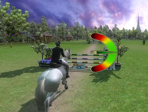 Jumping in Ride: Equestrian Simulation