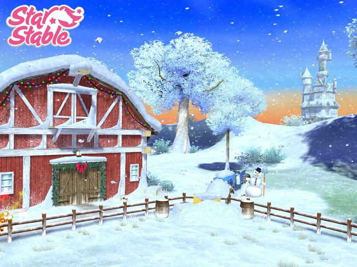 Winter Arrives to Star Stable Horses