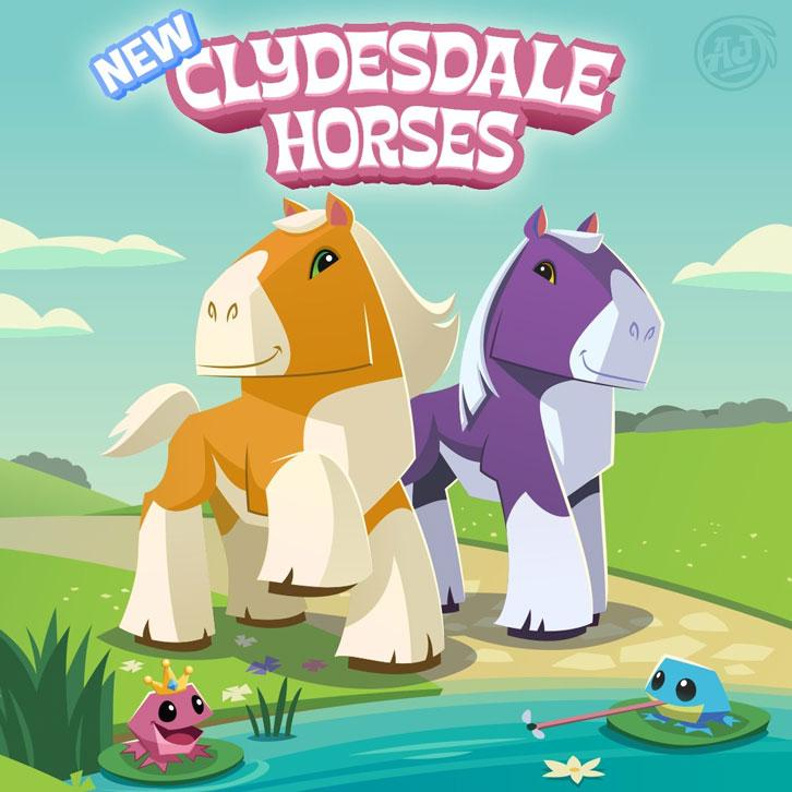 Animal Jam Released Clydesdale Horse Avatars