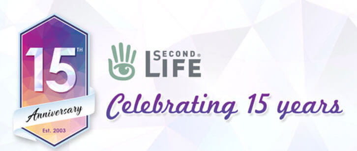 Second Life 15th Anniversary Infographic