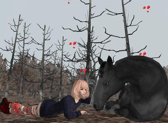Share Fall with Your Beautiful Horse in IMVU